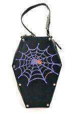 Coffin Bag Purple Spiderweb Emo Goth Punk Rocker Purse Bag Zipper side Addicted!