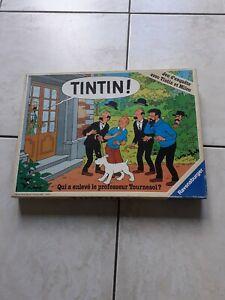 """JEU TINTIN """" QUI A ENLEVÉ LE PROFESSEUR TOURNESOL ? """" RAVENSBURGER 1987"""