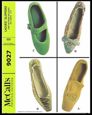 MOD RETRO SHELL MARY JANE PILGRIM SLIPPERS SHOES Fabric Sew Pattern McCALLS 9027