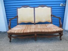 Banquette French Provincial Loveseat Bench Country Dining Settee Rush Seat