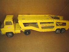 Vintage Tonka Coche Transportador Camión y Remolque Semi Tractor con /