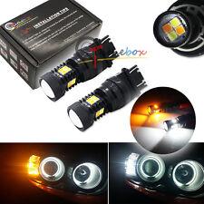 2PCS High Power Switchback White&Yellow T25 3030-SMD LED Turn Signal Light Bulbs