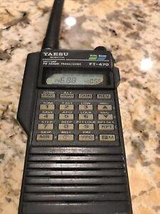 Yaesu FT-470 Dual Band VHF/UHF Handie Transciever