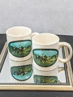 Ralph Lauren Polo Vintage 1978 Coffee Mugs Cups Gift Set of 2  Collectors