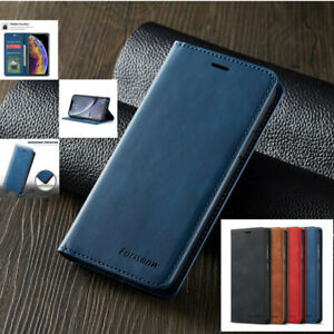 Leather Magnetic Flip Wallet Card Case Cover For Samsung A12 S20 FE S21 A52s S21