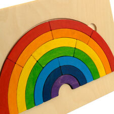 Rainbow Jigsaw Puzzles • Educational Aid • Ecological Wooden PILCH Toy