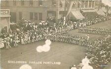 Birdseye View C-1910 Childrens Parade Portland Oregon Rppc real photo 5486