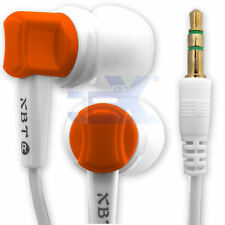 Angled XBT S3 High Quality Orange Stereo Silicon Earbuds Earphones Headphones