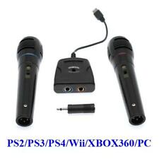 6in1 Singstar Adapter + 2x Mikrofone für PS2 PS3 PS4 Wii WiiU XBOX360 XBOXONE PC