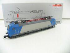 MÄRKLIN/HAMO 36853 E-LOK SERIE 185 SILBER/BLAU der CFL UMBAU  DC 2-LEITER NH3226