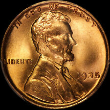 1935 LINCOLN CENT PCGS MS 66 RED