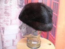 Sombrero mujer estilo ushanka de piel pelo natural de visón gorro t 60 cms