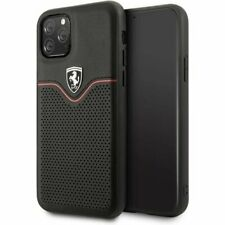 Genuine Ferrari Victory Leather Case Cover For iPhone 11 Pro Max in Black