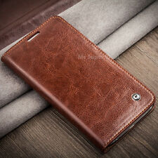 Phone Leather Pouch Real Case Flip Cover Sleeve Bumper Skin Back Accessories No Mahogany Braun Samsung Galaxy S5