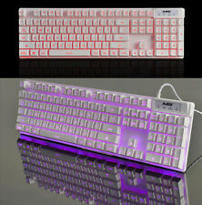 Blue/Red/Purple LED Ajazz Cyborg Soldier Backlit Ergonomic Usb Gaming Keyboard