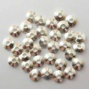 120 PCS 5MM SMALL RONDELL BEAD  STERLING SILVER PLATED 1017AS-807