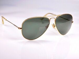 Vintage 1990's B&L Ray Ban Masterpiece Precious Metals Aviator W1904 Sunglasses