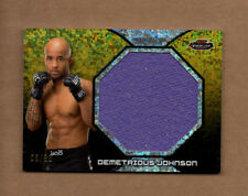 2013 Finest UFC Jumbo Fight Mat Relics Refractors Gold #FFMDJ Demetrious Johnson