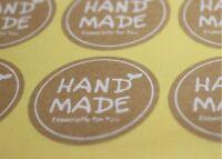 180~Blank circle Kraft Label Sticker Hand Made DIY ~35mm