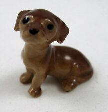 Hagen Renaker miniature made in America Dachshund puppy seated retired