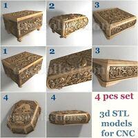 4 pcs set 3d stl models  for CNC Router Artcam Aspire