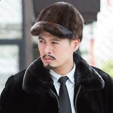 Genuine Winter Men Real New Mink Fur Hat Cap Headgear Beanie Beret   QS 0047