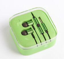 Earphones Metal Noise Isolating In Ear Earphones For HTC Samsung  GREEN