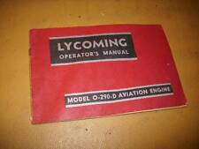 Lycoming O-290-D Engine Operator's Manual