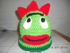 Character Boutique Crochet Green Horned Monster Hat ~ Any size!