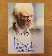 HEROES Archives Trading Card  Signed Autograph: Malcolm McDowell