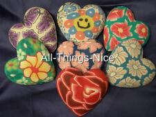 Polymer FIMO Clay 50MM Large XXL PUFF HEART Bead Pendant Jewellery Making 5