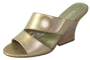 Ladies Wedding Party Wedge Heeled Evening Shoes Womens Sandals Diamante Gold NEW