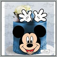 Mickey Mouse birthday CARD Edible Wafer Rice Paper Cupcake Cake Topper