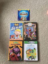 5 Kid's DVDs: Sesame Street Halloween, Sesame St. Christmas, Caillou, Builder B