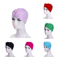 Cotton Women Turban Hats Headbands Hairband Cap Indian Style Head Wrap Headdress