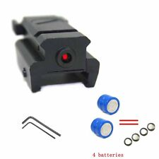 Tactical Low Profile Compact Red Laser Sight 20mm Picatinny Weaver Rail Mount US