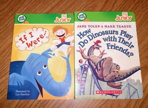 Set(2)Books LeapFrog Tag Junior How Do Dinosaurs Play Friends & If I were...