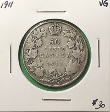 Canada 1911 Fifty Cents Silver 50 Cent VG