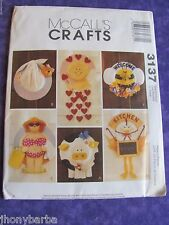 SEWING PATTERN McCALLS CRAFTS 3137 STRAW HAT WREATHS 6 DESIGNS NEW and UNCUT