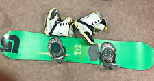 Burton 55 Snowboard With K2 Clicker Bindings And Size 6.5 K2 Luna Boots,Free P&P