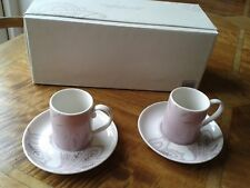 Monsoon Chantilly Espresso Cup & Saucer Set of 4 *New & Boxed* by Denby