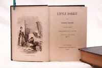 """Libro antico illustrato """"Little Dorrit"""" di Charles Dickens ed Tauchnitz 1856"""