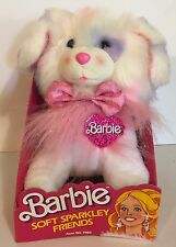 1987 Mattel Barbie Soft Sparkley Friends Precious Pup Plush New Box Rocker Heart