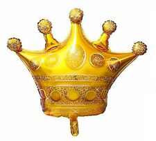 "XL supershape gold CROWN foil balloon 98cm x 82cm or 39"" x 32 inches king prince"