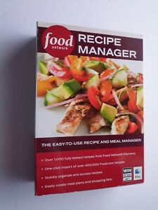 Food Network Recipe Manager Software for Windows PC & Mac - New in Sealed Box!