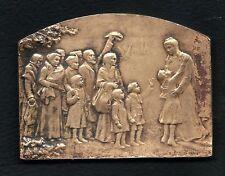 Art Nouveau La France Reconnaissante FRANCE GRATEFUL1914-18 medal by STERN / M35