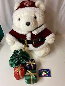 Santa Bear SANTA 1998 Dayton Hudson's  Book Sack 3 Stuffed Presents Santa Suit