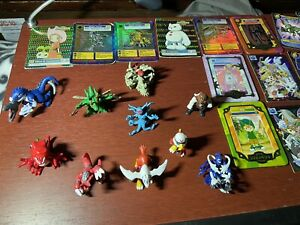 Lot of Vintage Digimon Mini Figures And Mixed Cards Lot 1997-2000