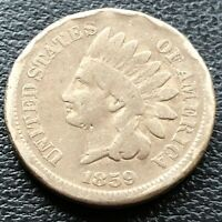 1859 Indian Head Cent 1c Circulated #23294