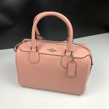 BRAND NEW WOMENS COACH (F32202) PETAL PINK CROSSGRAIN MINI BENNET HAND BAG
